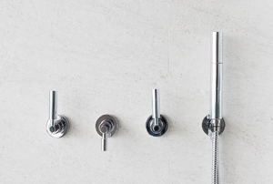 Multiple shower handles.