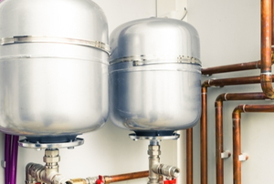 boiler system with extension tank