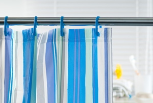 shower rod and curtain