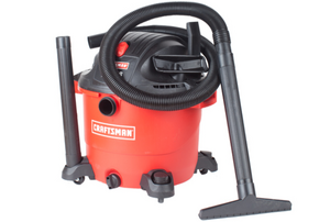 Red Craftsman wet-dry vac