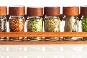 a small spice rack