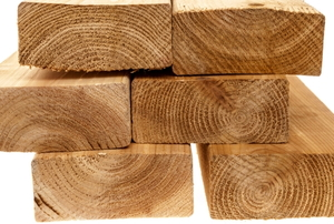 a stack of 2x4 boards