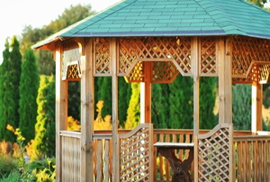 An outdoor gazebo.