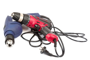 Two power tools against a white background.