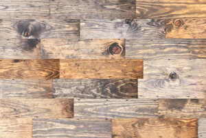 rectangles of reclaimed wood in smooth surface