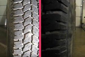 closeup of a tire
