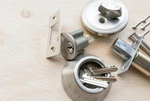 A cylinder lock.