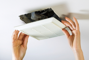 removing bathroom vent-fan cover