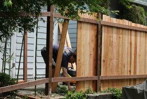 A cedar fence.