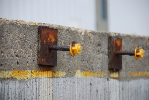 rusted anchor bolts in concrete