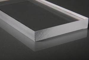 slab of cut plexiglass