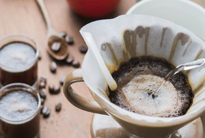 A coffeepot.