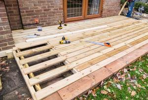 Building a deck.