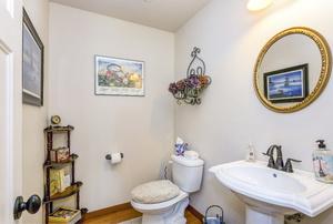 A bathroom with a pedestal sink.