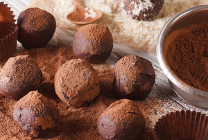 Chocolates dusted with cocoa powder
