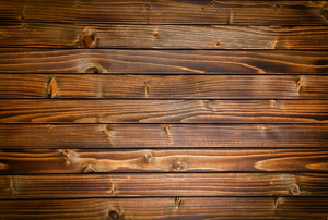 Varnished wooden boards.