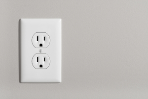 An outlet on the wall.