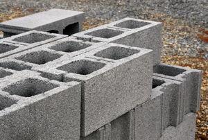 A stack of cinder blocks.