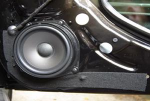 built in car speaker