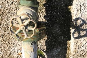 a water shutoff valve