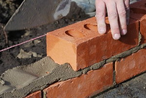 installing a brick wall