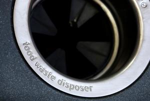 A garbage disposal.