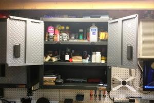 storage cabinet in a garage