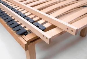 Wood bed slats.