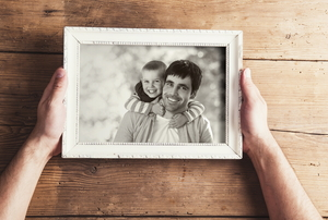 A photo frame.