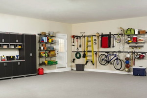 An organized garage - photo by Rubbermaid Products