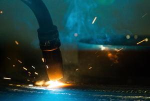 A torch welding.
