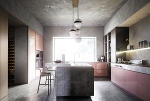 Lights in a kitchen.