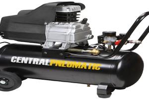 An air compressor unit.