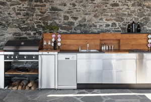 Outdoor stainless steel kitchen