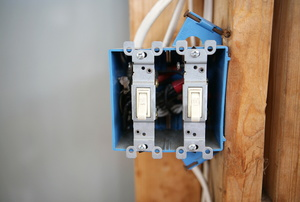A light switch.
