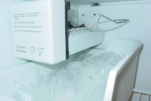 ice maker full of ice