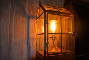 The steampunk electric lantern.