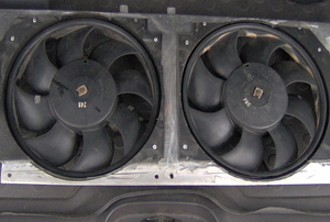 A car radiator fan.