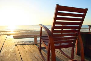 A rocking chair.