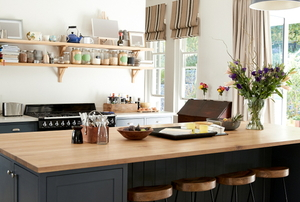 a compact stylish kitchen