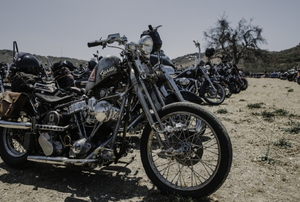 A row of motorcycles.