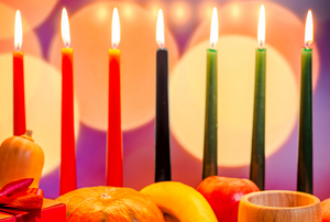 Traditional Kwanzaa candles