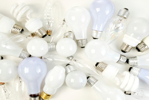 A collection of light bulbs.