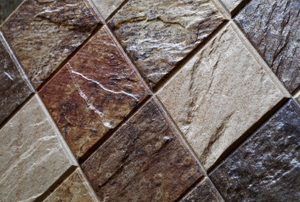 A close-up image of brown tile.