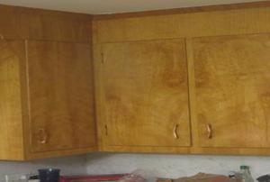 Retro kitchen cabinets.