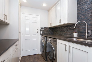 An upscale laundry room.