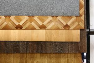 A selection of linoleum floor options.