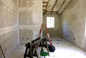 Drywall in a home,