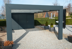 an open carport