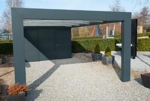 an open carport